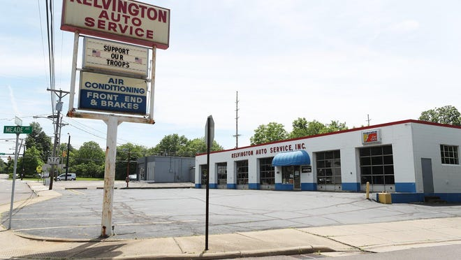 The exterior of  Kelvington Auto Service on Newton Street in Akron on Tuesday, June 9, 2020. Owner Earl Kelvington, 66, was issued a summons arrest at 6:30 p.m. on two misdemeanors, carrying a concealed weapon and improper handling of a firearm in a motor vehicle.  He was not taken into custody.
