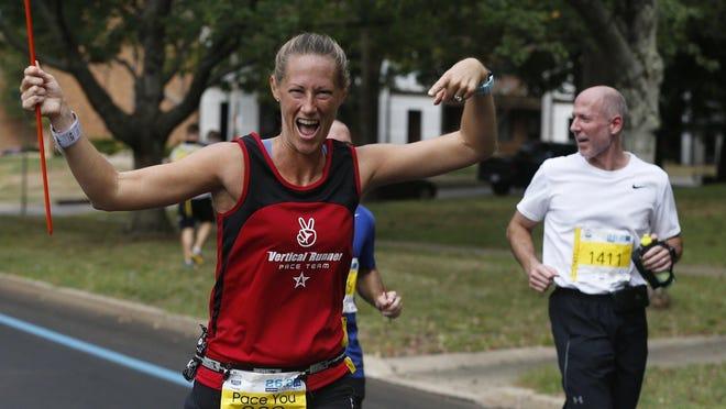 Runners participate in last year's FirstEnergy Akron Marathon, Half Marathon and Team Relay on Sept. 28 in Akron.