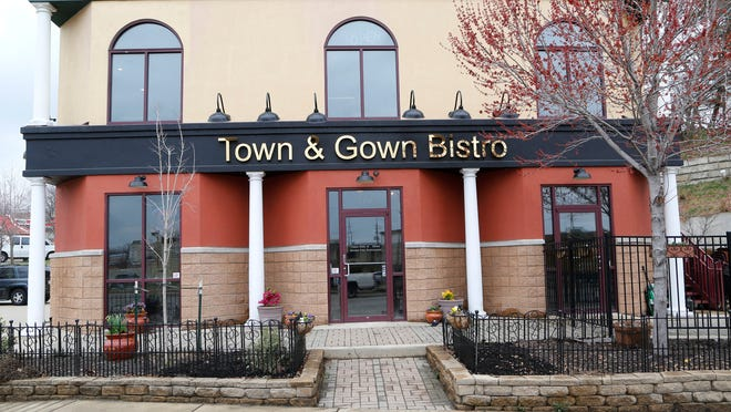 Town & Gown Bistro on Tuesday, April 7, 2015, at 119 N. River Road in West Lafayette. The upstairs of the building suffered extensive damage from a fire over a year ago. But owner Matt O'Neill is set to open Town & Gown Bistro on Monday, April 13.