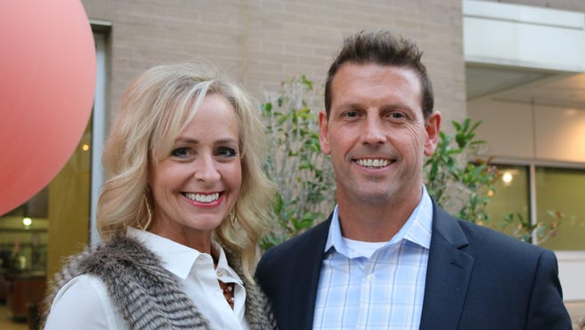 Kerry Maggard and her husband, UL athletic director Bryan Maggard, attended the the Lourdes Foundation Blessings Soiree at Our Lady of Lourdes Regional Medical Center Meditation Garden in Oct. 17. Kerry Maggard is now battling breast cancer as UL prepares to play Tulane at the Cure Bowl in Orlando.