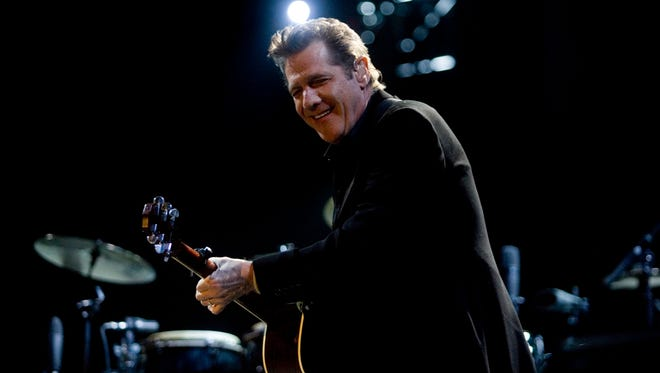 Glenn Frey performs May 2, 2008, at Stagecoach country music festival, held at the Indio Polo Grounds in Indio, Calif.