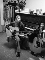Joni Mitchell is shown in this March 1974 photo. Her