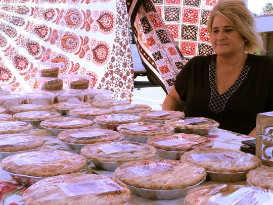Adrienne Tirri from For the Love of Pie displays her