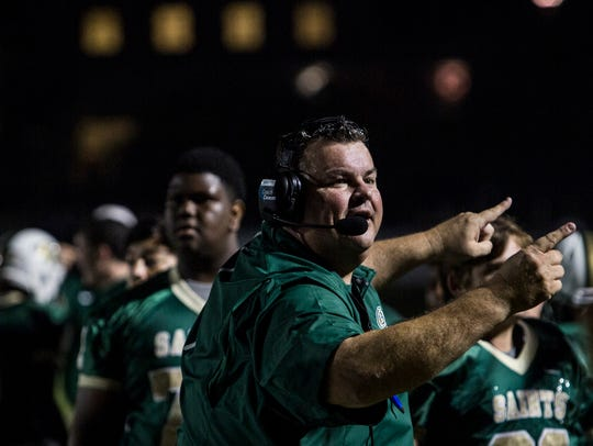 September 15, 2017 - Briarcrest's head coach, Brian