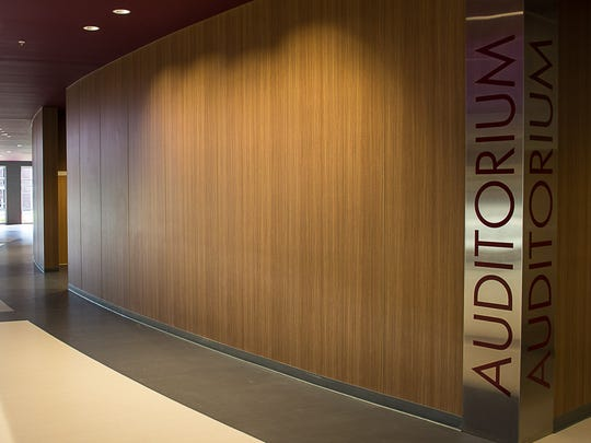 The auditorium entrance at Collierville High School.