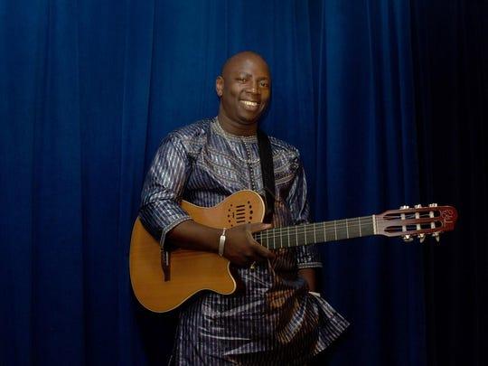 African desert blues guitarist Vieux Farka Touré plays