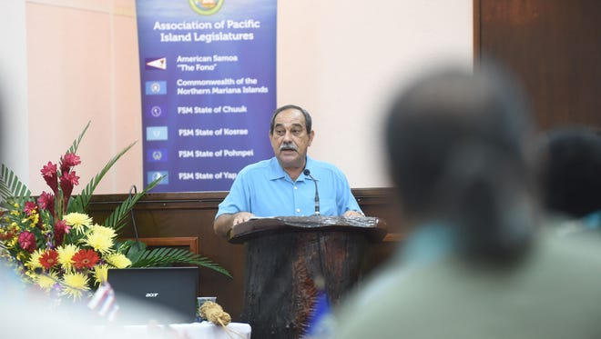 Peter M. Christian, president of the Federated States of Micronesia, was one of the keynote speakers at the 35th General Assembly of the Association of Pacific Island Legislatures on June 1 at the Guam Legislature building in Hagatna.
