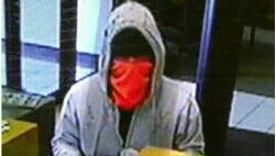 The suspect in Monday's robbery.