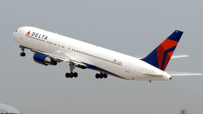 An undated file photo of a Delta Air Lines Boeing 767 aircraft.