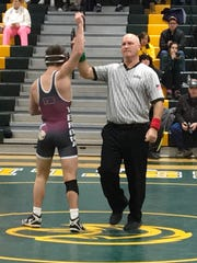 Verona's Frank Gabriele (left) won two matches at a