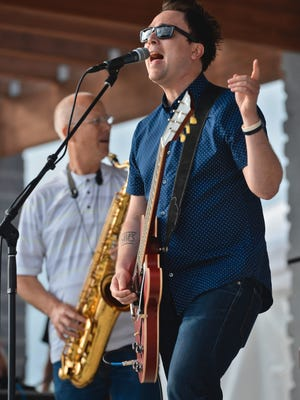 Justin Ploof and the Throwbacks will headline the 2018 St. Mary's Cathedral Block Party. In this 2016 photo, Ploof and his band are performing at Summertime by George!
