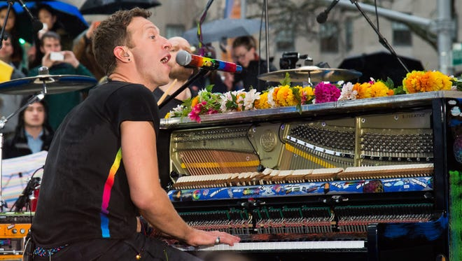 Chris Martin and Coldplay will play Bankers Life Fieldhouse on July 20.