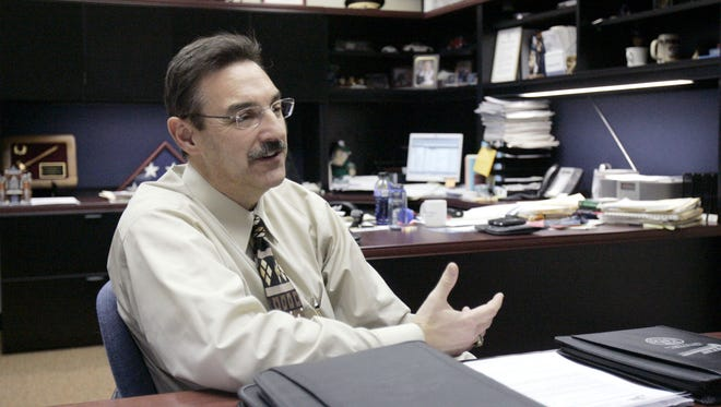 In this 2006 photo, former Appleton police chief Rick Myers was preparing to move to a new job in Colorado Springs, Colorado.