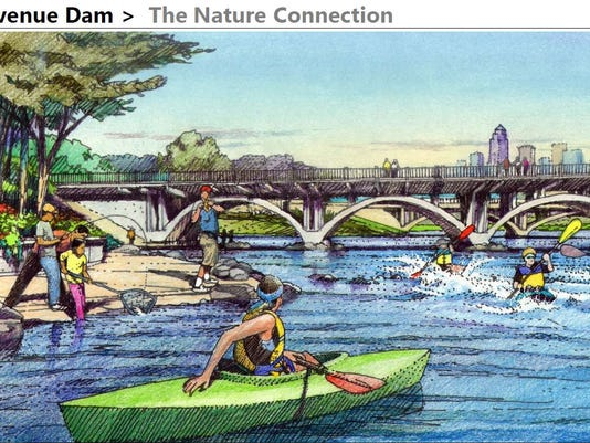 Scott Street dam sketch
