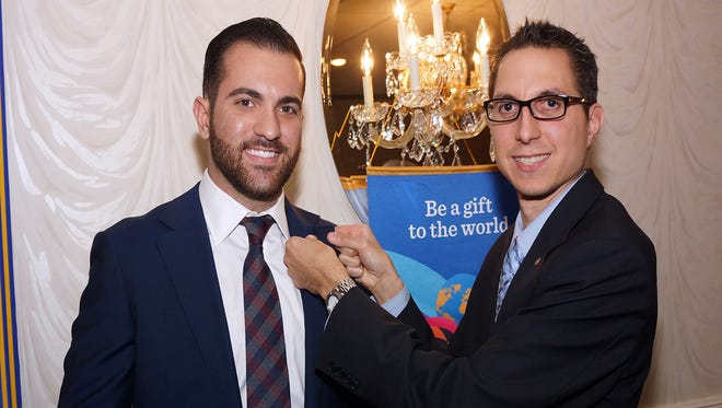 Nick Fiocchi (left) was sponsored for membership in the Rotary Club of Vineland by Rotarian Nick Surace.