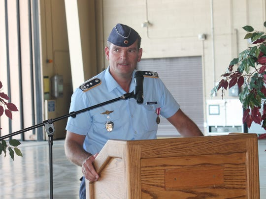 Col. Armin Havenith bid farewell Wednesday afternoon