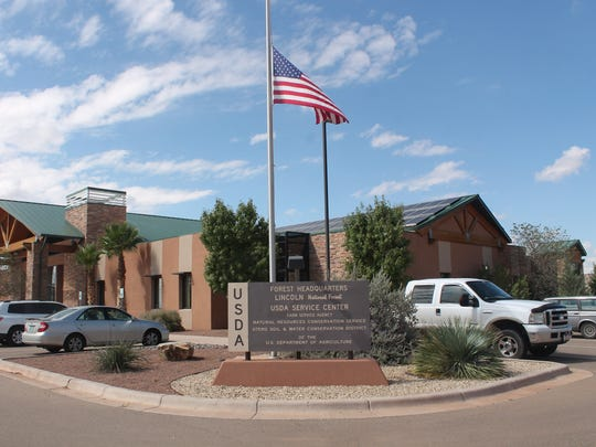 Lincoln National Forest Headquarters on 3463 Las Palomas Road.