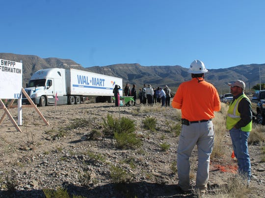 Walmart's crew surveyed the land at 2401 Indian Wells