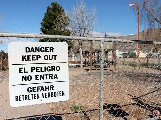 The remanents of Kids' Kingdom remain locked up and posted signs warn residents to stay out. The City of Alamogordo plans to clear the property within the next couple weeks.