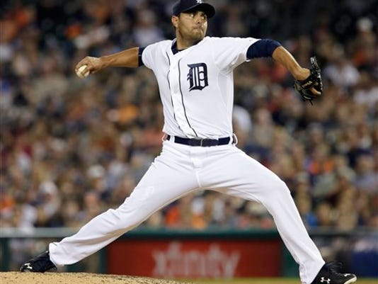 Detroit Tigers pitcher Joakim Soria throws against the Seattle Mariners during the ninth inning of a baseball game Monday, July 20, 2015 in Detroit. Soria recorded his 21st save in the Tigers 5-4 win over the Mariners.