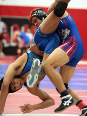 The scene at the DVL Wrestling finals on Saturday, January 30, 2016 at Palm Springs High School.