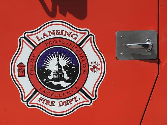Lansing fire truck sign