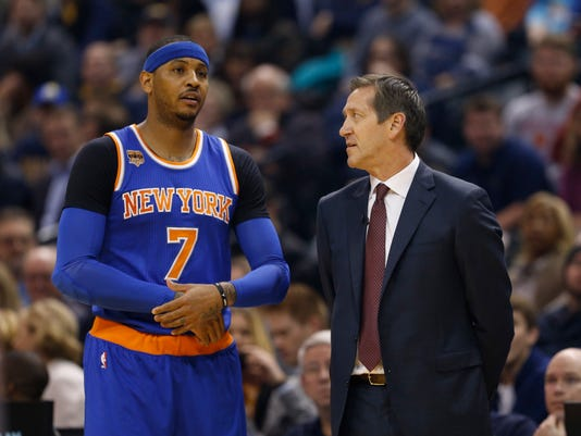 Knicks Carmelo Anthony, Jeff Hornacek