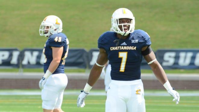 Drae Bowles, a Jackson Christian graduate, enjoys being part of the football team at UTC.