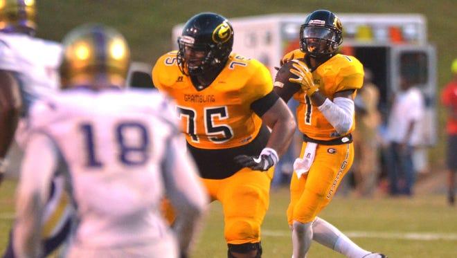 Grambling quarterback DeVante Kincade (1) is coming off a six-touchdown performance against Alcorn State.