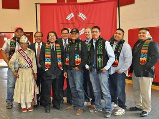 Navajo Technical University students who received a