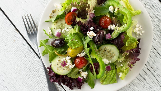 The Greek salad from Zoës Kitchen.
