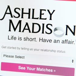 LONDON, ENGLAND - AUGUST 19: A detail of the Ashley Madison website on August 19, 2015 in London, England. Hackers who stole customer information from the cheating site AshleyMadison.com dumped 9.7 gigabytes of data to the dark web on Tuesday fulfilling a threat to release sensitive information including account details, log-ins and credit card details, if Avid Life Media, the owner of the website didn't take Ashley Madison.com offline permanently.