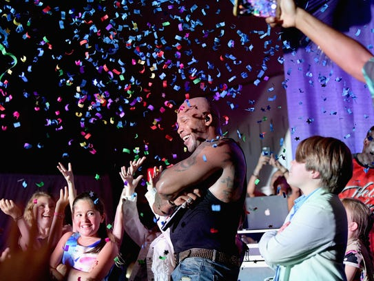 Recording artist Flo Rida performs on stage during