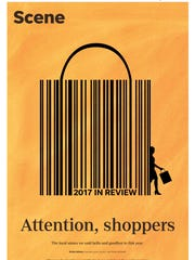 """Attention shoppers."" Courier Journal Sunday Scene"