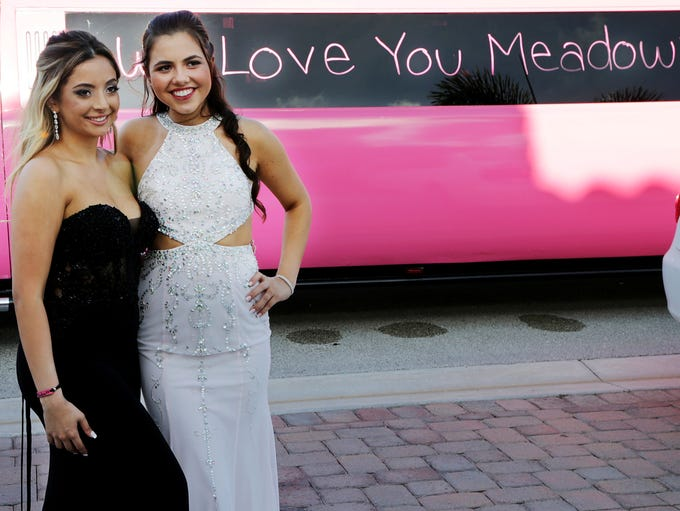 Nicolette Miciotta, left, and Carley Ogozaly pose for