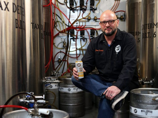 Mill House Brewing Company brewmaster Larry Stock at