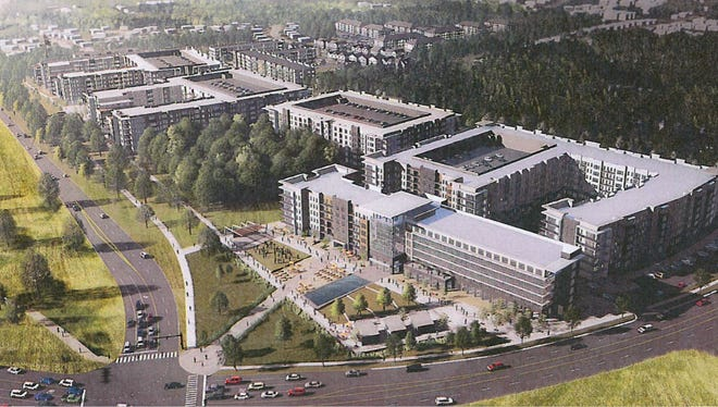 Rendering of Parkside at Shelby Farms.
