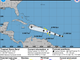 A graphic shows the expected track of Tropical Storm