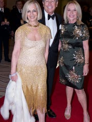 PSIFF Vice Chair and Awards Gala Underwriter Helene Galen with Jamie Kabler and Madeline Redstone at the Awards Gala.