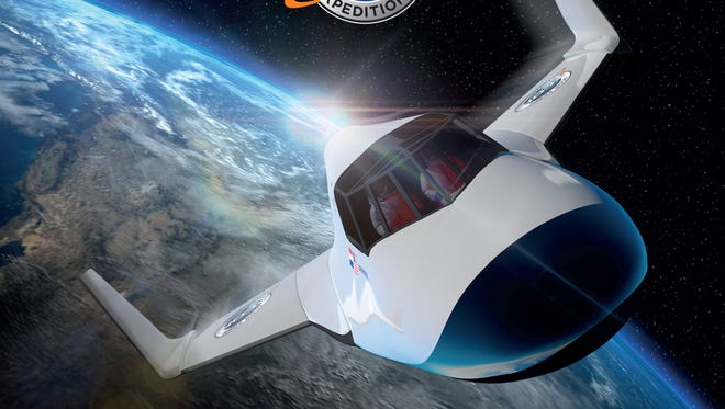 This undated image provided by XCOR shows the XCOR Lynx, a suborbital horizontal-takeoff, horizontal-landing, rocket-powered spaceplane under development by the California-based company XCOR.