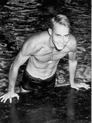 Alan Gentry, pictured in this 1955 photo, attended Fulton High School. He attended Georgia and was a member of the swim team.
