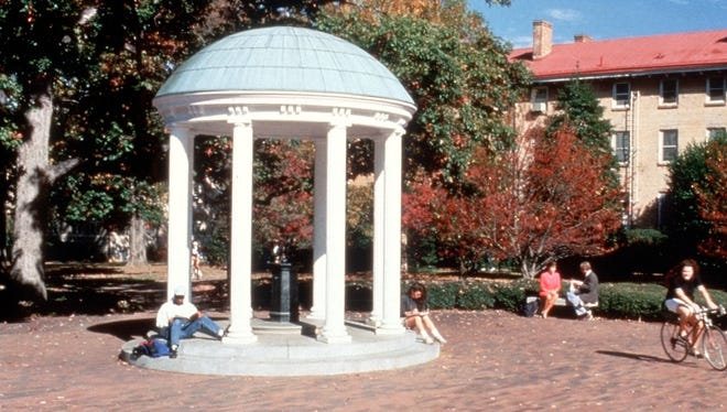 The Old Well on the campus of the University of North Carolina at Chapel Hill.