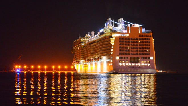 Norwegian Cruise Line's Epic arrives at Port Canaveral before a November sailing.