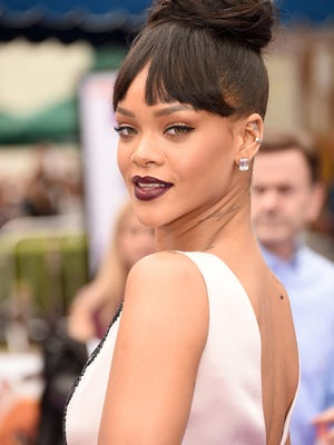 "Singer Rihanna, shown attending the premiere of ""Home"" on March 22, will perform at White River State Park as part of NCAA festivities on Saturday, April 4."