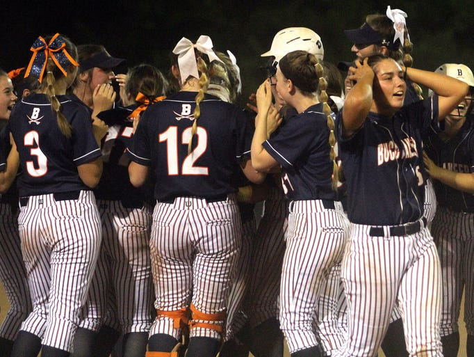 Beech celebrates their 7-6 win in the bottom of the