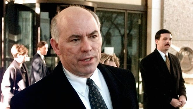 U.S. prosecutor Larry Mackey leaves the federal courthouse in Denver on Dec. 16 1997, when the jury began deliberating the fate of Oklahoma City bombing suspect Terry Nichols.