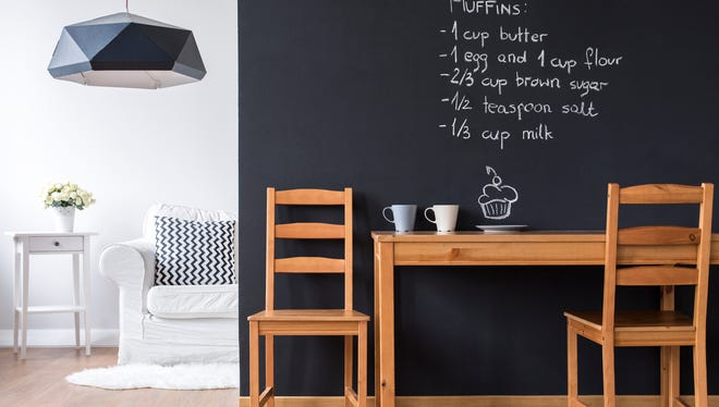 Chalkboard paint can transform most surfaces into chalkboards, so long as the surface is smooth and suitable for painting.
