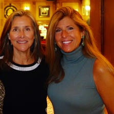 Linda Solomon (right) and Meredith Vieira.