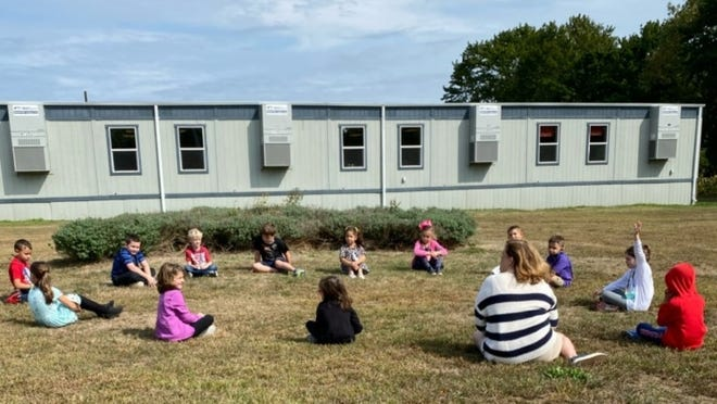 Students at the Alice A. Macomber Primary School returned to in-person learning last week, practicing proper social distancing and health guidelines.