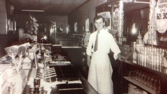 Mike Brikou's father, Peter, inside The Goodie Shoppe when it was at Portland and Clifford avenues in Rochester. It's been operating in Webster since the 1970s.